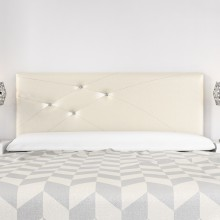 Headboard Mod. Lois Swarovski 180 cm Ivory