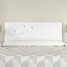 Cabecero Mod. Lois Swarovski 135 cm Blanco