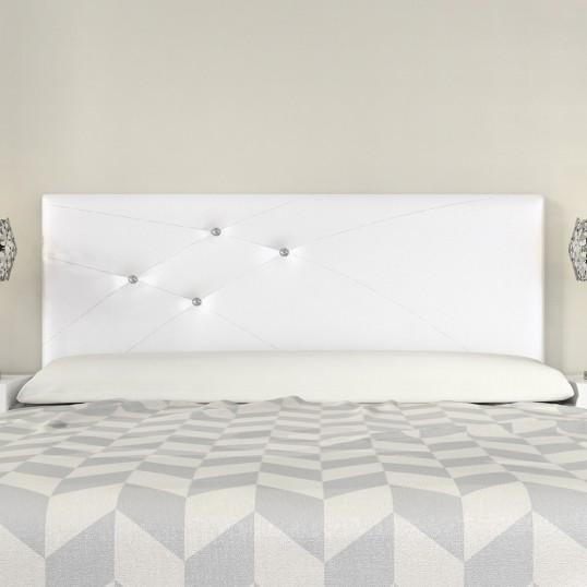 Headboard Mod. Lois Swarovski 135 cm White