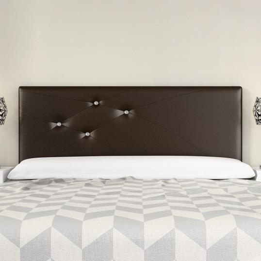 Headboard Mod. Lois Swarovski 180 cm Chocolate